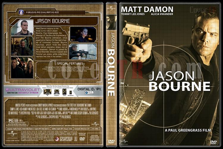 The Bourne Collection - Custom Dvd Cover Set - English [2002-2016]-06jpg