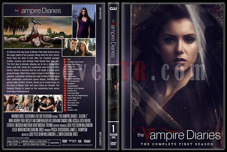 The Vampire Diaries (Seasons 1-8) - Custom Dvd Cover Set - English [2009-2017]-1jpg