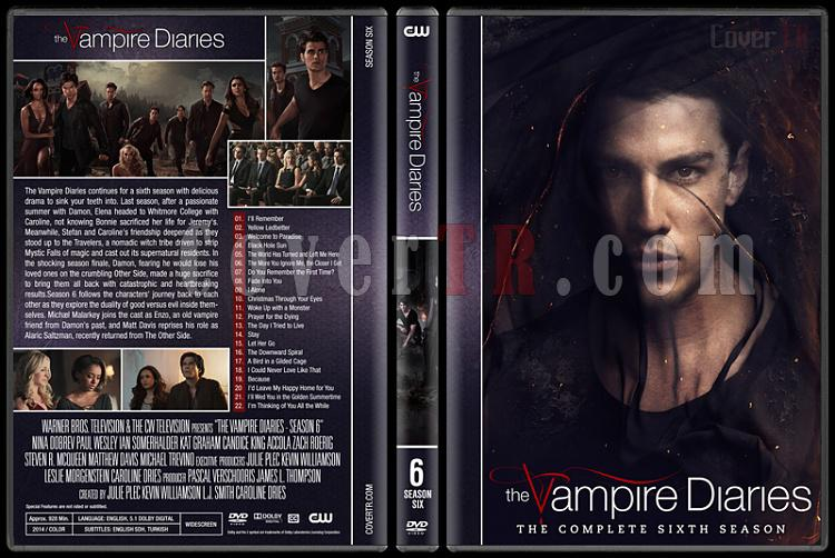 The Vampire Diaries (Seasons 1-8) - Custom Dvd Cover Set - English [2009-2017]-6jpg