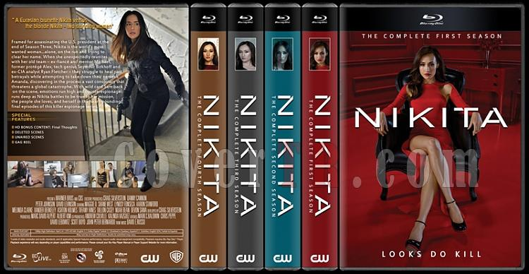 Nikita (Seasons 1-4) - Custom Dvd Cover Set - English [2010-2013]-4-flatjpg