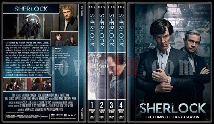Sherlock (Seasons 1-4) - Custom Dvd Cover Set - English [2010-?]-preview-2jpg