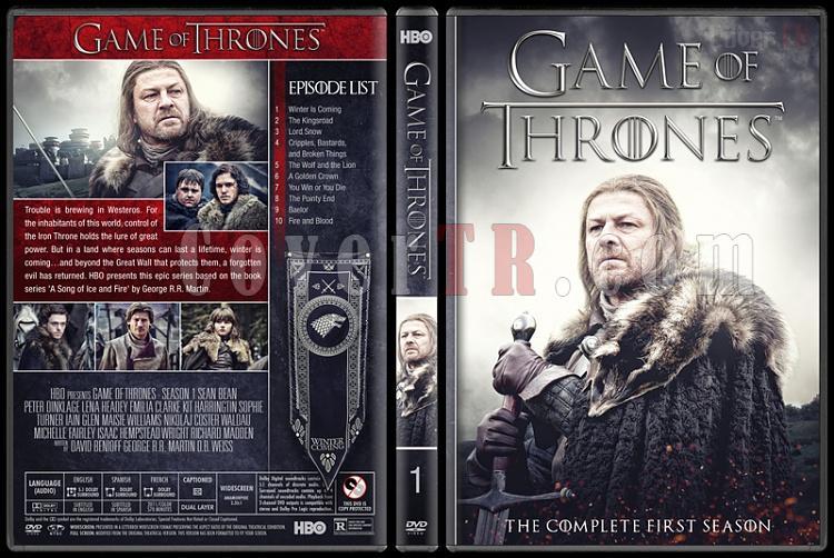 Game of Thrones (Seasons 1-8) - Custom Dvd Cover Set - English [2011-2018]-1jpg