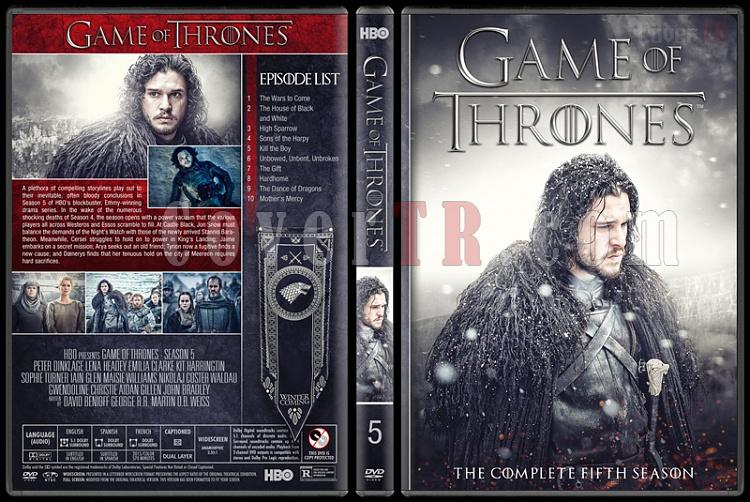Game Of Thrones Seasons 1 8 Custom Dvd Cover Set English 2011 2018 Covertr