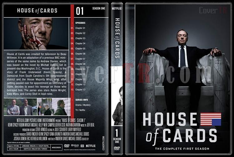 House of Cards (Seasons 1-5) - Custom Dvd Cover Set - English [2013-?]-1jpg