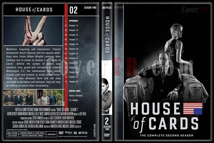 House of Cards (Seasons 1-5) - Custom Dvd Cover Set - English [2013-?]-2jpg