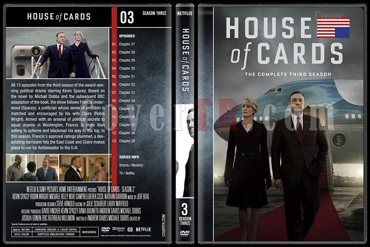 House of Cards (Seasons 1-5) - Custom Dvd Cover Set - English [2013-?]-3jpg
