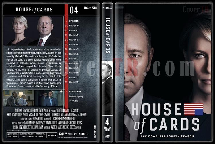 House of Cards (Seasons 1-5) - Custom Dvd Cover Set - English [2013-?]-4jpg