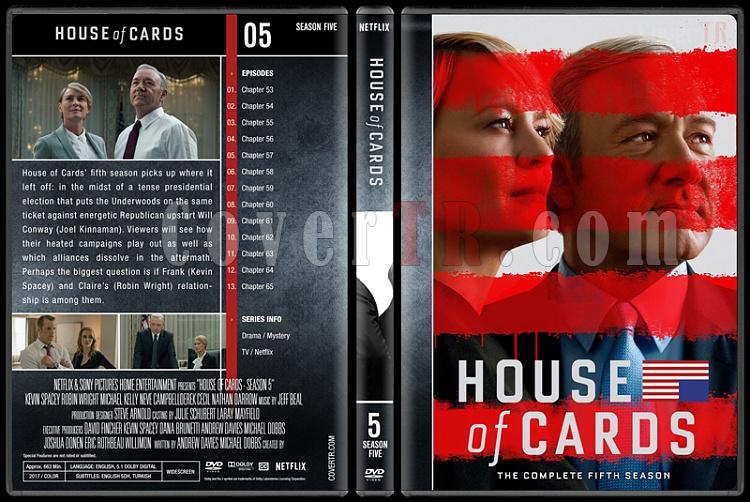 House of Cards (Seasons 1-5) - Custom Dvd Cover Set - English [2013-?]-5jpg