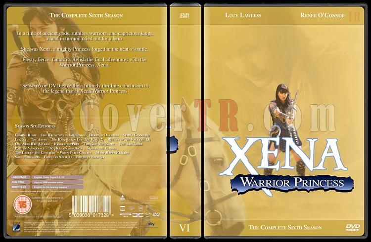Xena (Season 1-6) - Custom Dvd Cover Set - English [1995-2001]-xena-season-6jpg