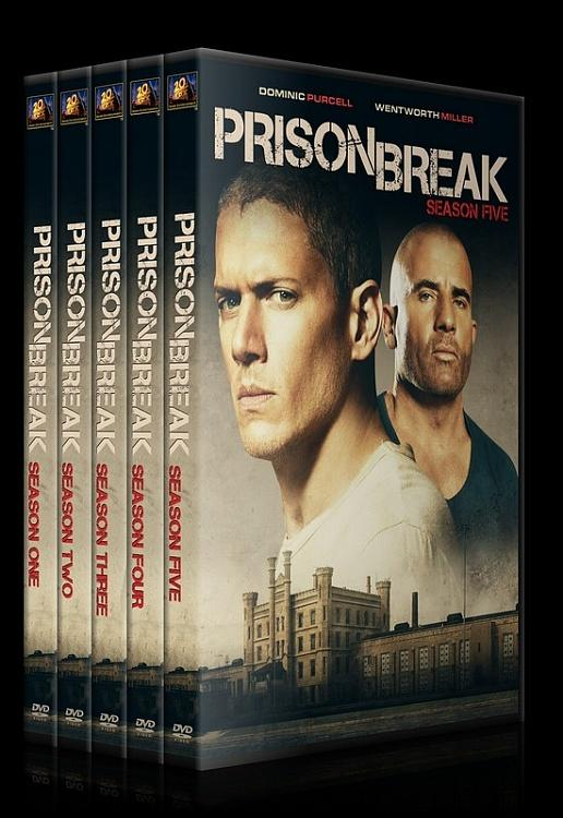 Prison Break (Seasons 1-5) - Custom Dvd Cover Set - English [2005-2017]-0jpg