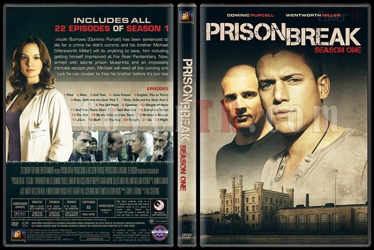 Prison Break (Seasons 1-5) - Custom Dvd Cover Set - English [2005-2017]-1jpg