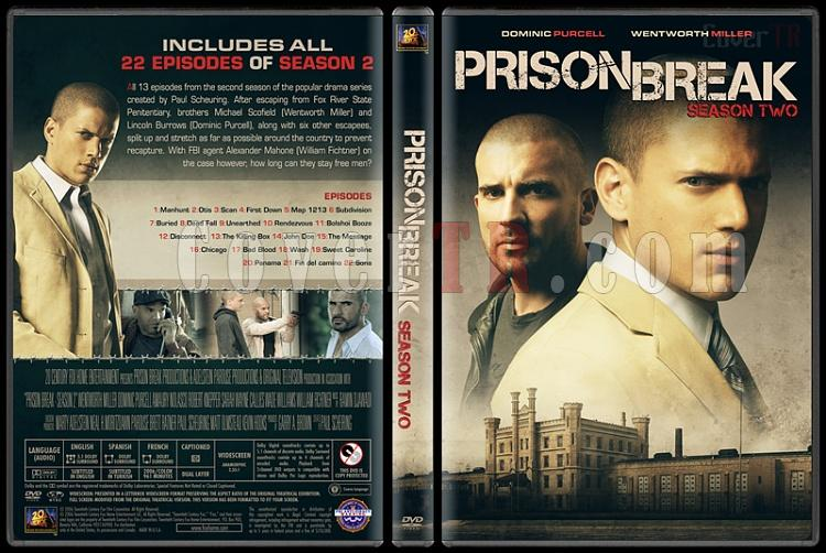 Prison Break (Seasons 1-5) - Custom Dvd Cover Set - English [2005-2017]-2jpg