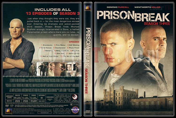 Prison Break (Seasons 1-5) - Custom Dvd Cover Set - English [2005-2017]-3jpg