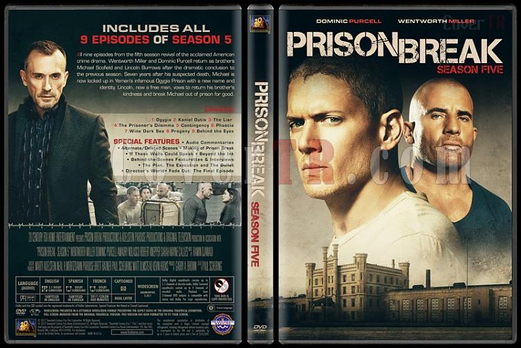 Prison Break (Seasons 1-5) - Custom Dvd Cover Set - English [2005-2017]-5jpg