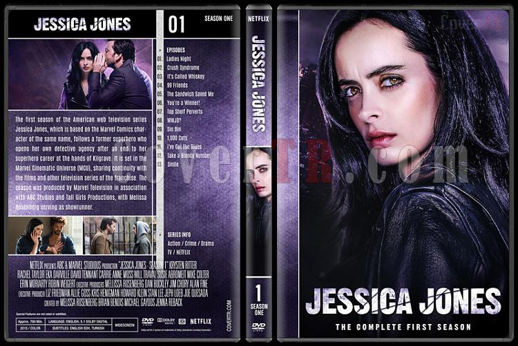 Jessica Jones (Season 1-2) - Custom Dvd Cover Set - English [2015-?]-1jpg