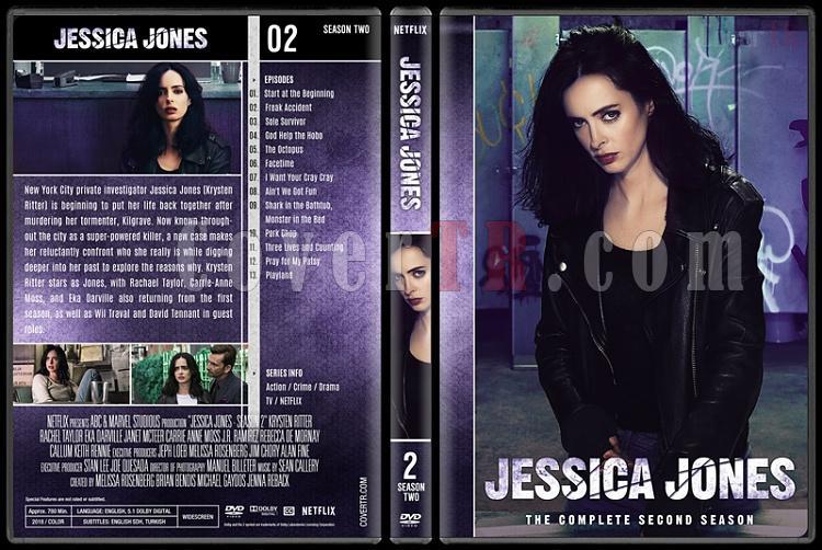 Jessica Jones (Season 1-2) - Custom Dvd Cover Set - English [2015-?]-2jpg