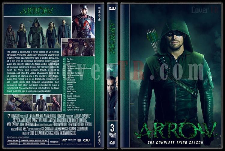 Arrow (Seasons 1-6) - Custom Dvd Cover Set - English [2012-?]-03jpg