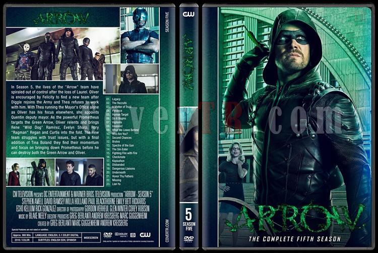 Arrow (Seasons 1-6) - Custom Dvd Cover Set - English [2012-?]-05jpg