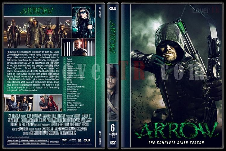 Arrow (Seasons 1-6) - Custom Dvd Cover Set - English [2012-?]-06jpg