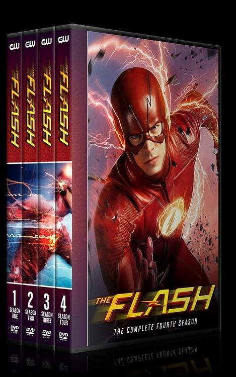 The Flash (Seasons 1-4) - Custom Dvd Cover Set - English [2014-?]-0jpg