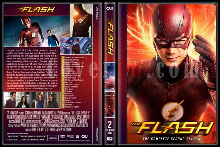 The Flash (Seasons 1-4) - Custom Dvd Cover Set - English [2014-?]-02jpg