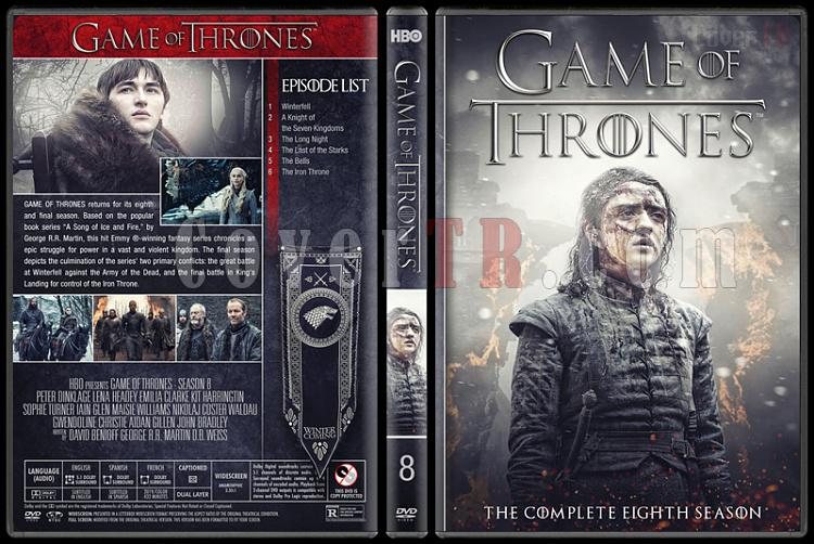 Game of Thrones (Seasons 1-8) - Custom Dvd Cover Set - English [2011-2018]-8jpg