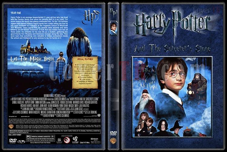 Harry Potter Collection - Custom Dvd Cover Set - English [2001-2011]-1-harry-potter-sorcerers-stonejpg