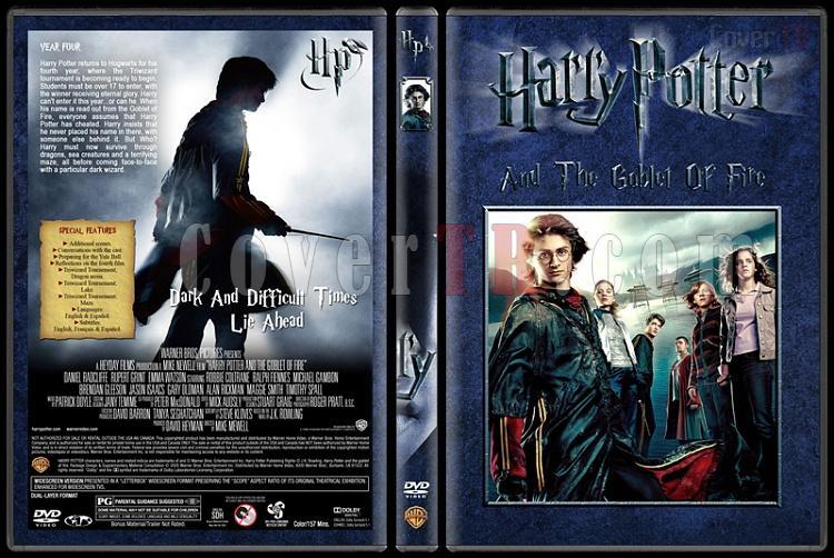 Harry Potter Collection - Custom Dvd Cover Set - English [2001-2011]-4-harry-potter-goblet-firejpg