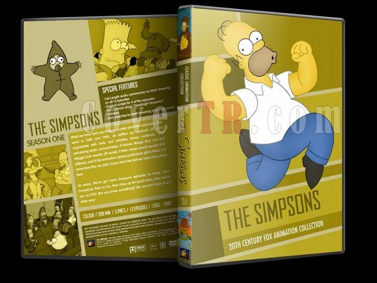 Simpsons (Season 1-10) - Custom Dvd Cover Set - English [1989-?]-simpsons-season-01-dvd-coverjpg