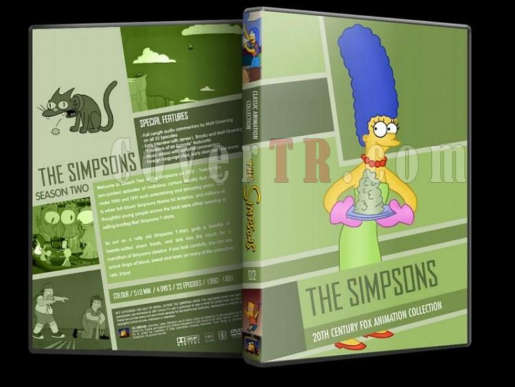 Simpsons (Season 1-10) - Custom Dvd Cover Set - English [1989-?]-simpsons-season-02-dvd-coverjpg
