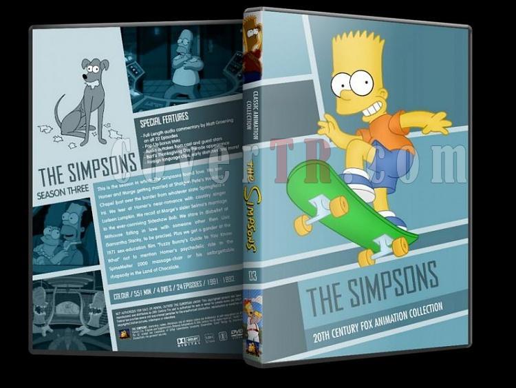 Simpsons (Season 1-10) - Custom Dvd Cover Set - English [1989-?]-simpsons-season-03-dvd-coverjpg