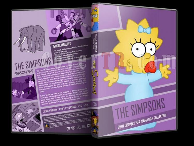 Simpsons (Season 1-10) - Custom Dvd Cover Set - English [1989-?]-simpsons-season-05-dvd-coverjpg