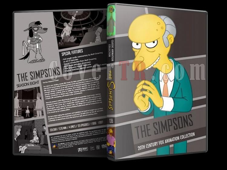 Simpsons (Season 1-10) - Custom Dvd Cover Set - English [1989-?]-simpsons-season-08-dvd-coverjpg