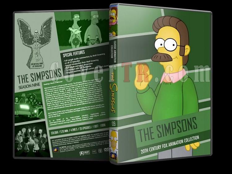 Simpsons (Season 1-10) - Custom Dvd Cover Set - English [1989-?]-simpsons-season-09-dvd-coverjpg
