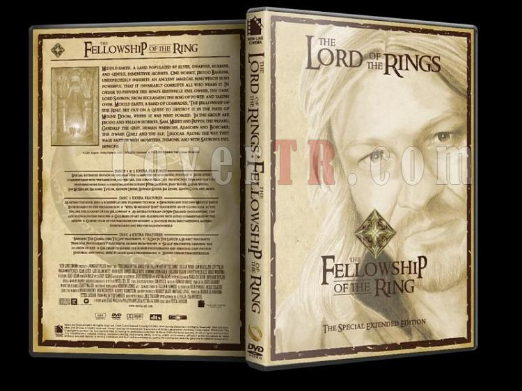 Lord Of The Rings (Yüzüklerin Efendisi) - Custom Dvd Cover Set - English [2001-2003]-lord-rings-fellowship-ring-dvd-coverjpg