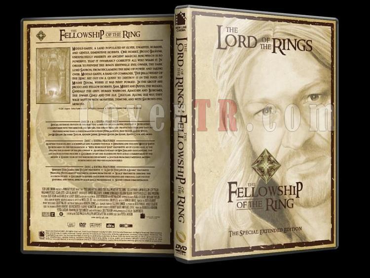 Lord Of The Rings (Yüzüklerin Efendisi) - Custom Dvd Cover Set - English [2001-2003]-lord-rings-fellowship-ring-dvd-coverjpg