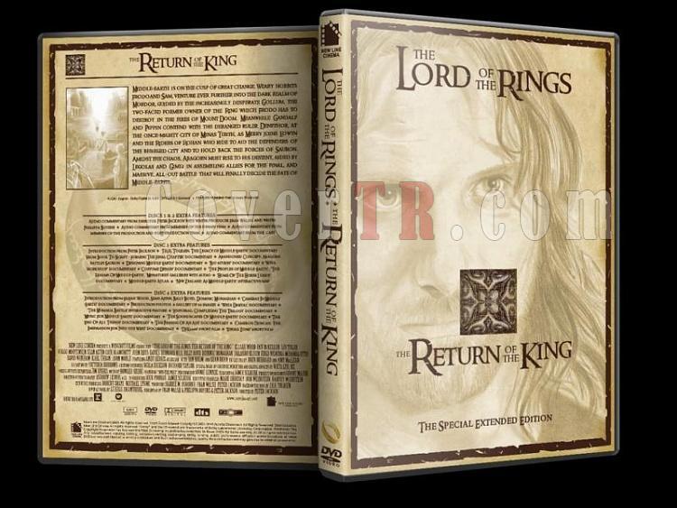 Lord Of The Rings (Yüzüklerin Efendisi) - Custom Dvd Cover Set - English [2001-2003]-lord-rings-return-king-dvd-coverjpg