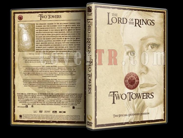 Lord Of The Rings (Yüzüklerin Efendisi) - Custom Dvd Cover Set - English [2001-2003]-lord-rings-two-towers-dvd-coverjpg