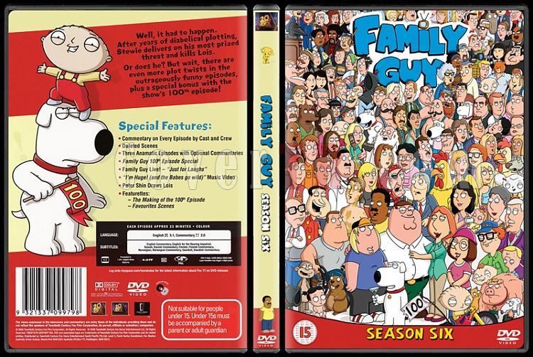 Family Guy (Season 1-9) - Scan Dvd Cover Set - English [1999-?]-6jpg