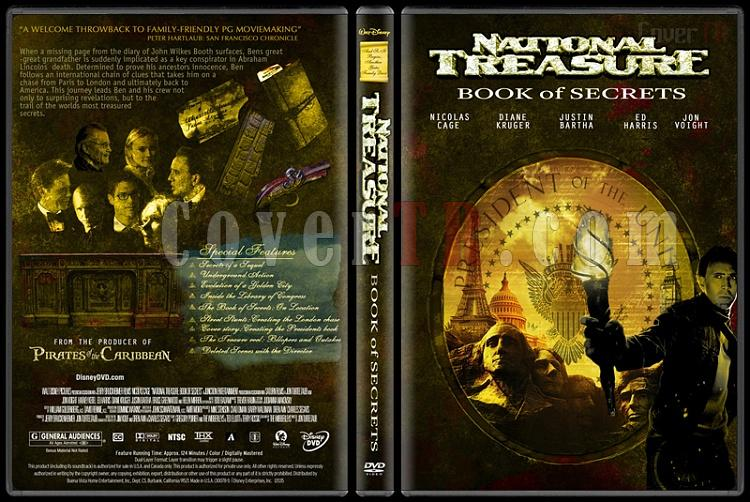 National Treasure (Büyük Hazine) Collection - Custom Dvd Cover Set - English [2004-2007]-national-treasure-book-secrets-dvd-coverjpg