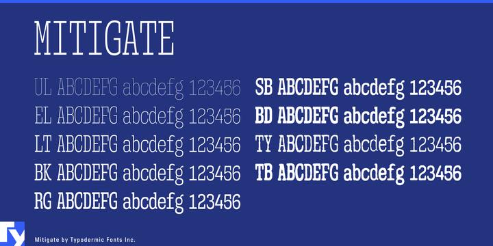 Miligate Font-176741jpg
