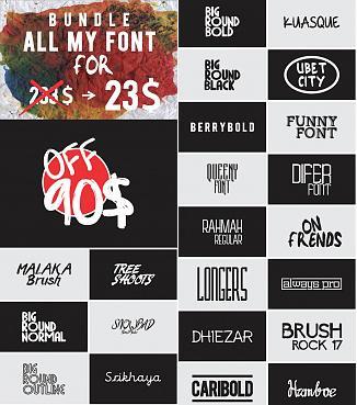 Bundle All My Font-previewjpg