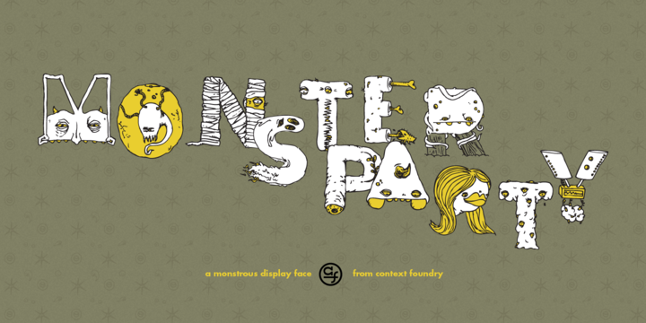Monster Party Font-146473jpg