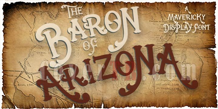 Baron Of Arizona Font-64309jpg