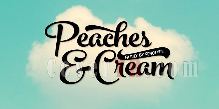 Peaches and Cream Font-144379jpg