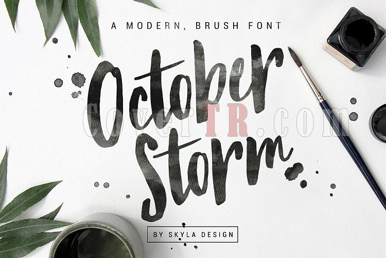 brush font - October Storm Font-brush_font_october_storm1jpg