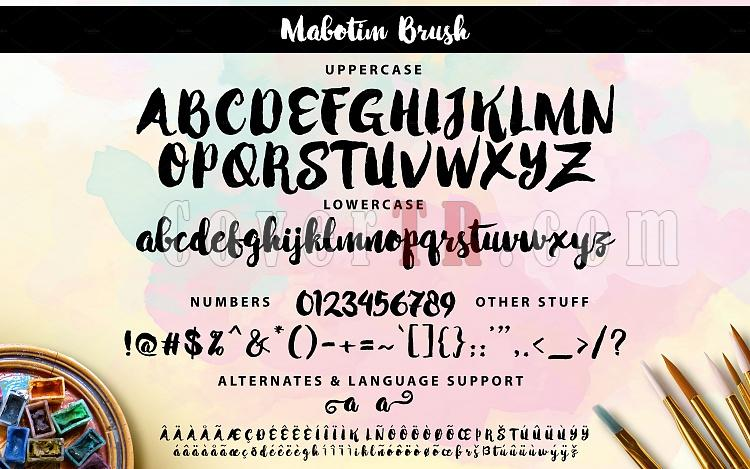 Mabotim Brush Font-05-mabotim-brush-all-glyphs-ojpg