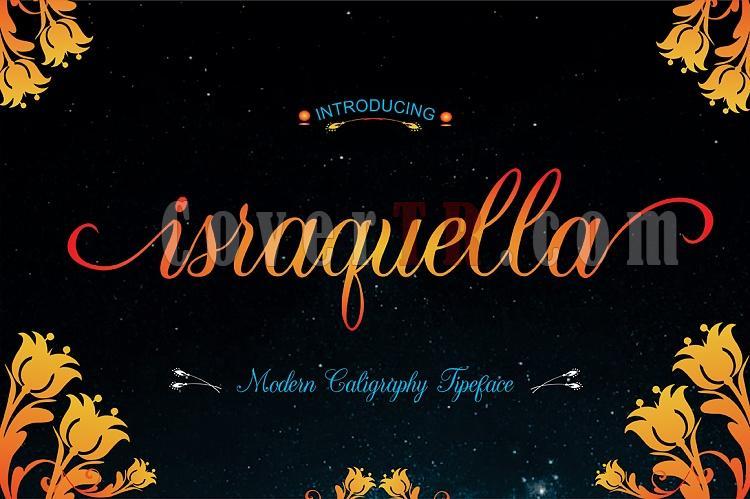 Israquella Script Font-israquella-script_01-ojpg