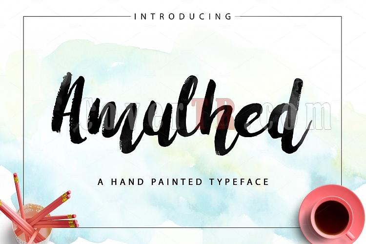 Amulhed Brush Font-priview-amulhed-new-ojpg
