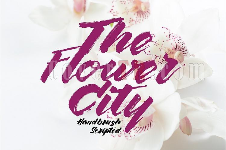 The Flower City Font-flower-city-display-01-ojpg
